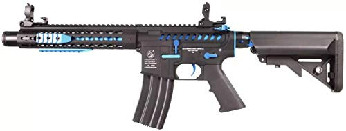 CyberGun Airsoft Rifle 180771 Colt M4 Blast Blue Fox/Material: Metal/Color Negro/eléctrico (0,5 Julios) / Semi-Full Automatic