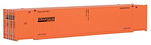 Walthers SceneMaster Singamas Schneider National Corrugated-Side Container, 53'