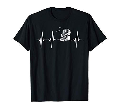 Chaise de plage de la mer Baltique Heartbeat Mer du Nord Idé T-Shirt