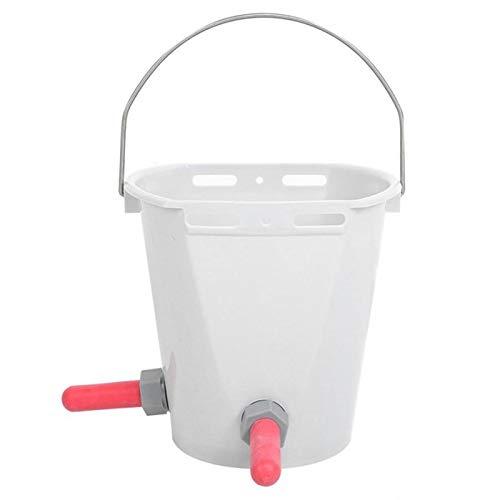 Bayda Cubo de alimentación de leche de plástico de múltiples pezones de cordero de ternero de leche de alimentación para ganado ovejas ganadero-B