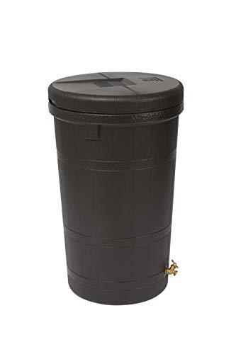 Good Ideas RW-ASPEN50-OAK Wizard Aspen 50 Gallon Saver-Oak Rain Barrel, Large