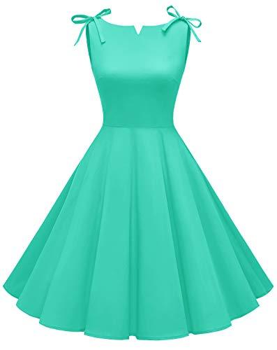 MUADRESS 1958 Vestidos Verano de Fiesta Mujer Elegante 1950s Pin Up Vintage Falda Retro Cóctel Rockabilly Clásico Tiffany M