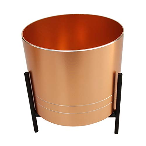 MagiDeal Zylindrischer Garten Blumentopf Pflanzer Saftiger Vasen Behälter - Golden_L