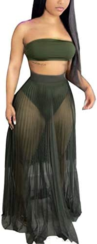 2 piece mesh skirt set _image2