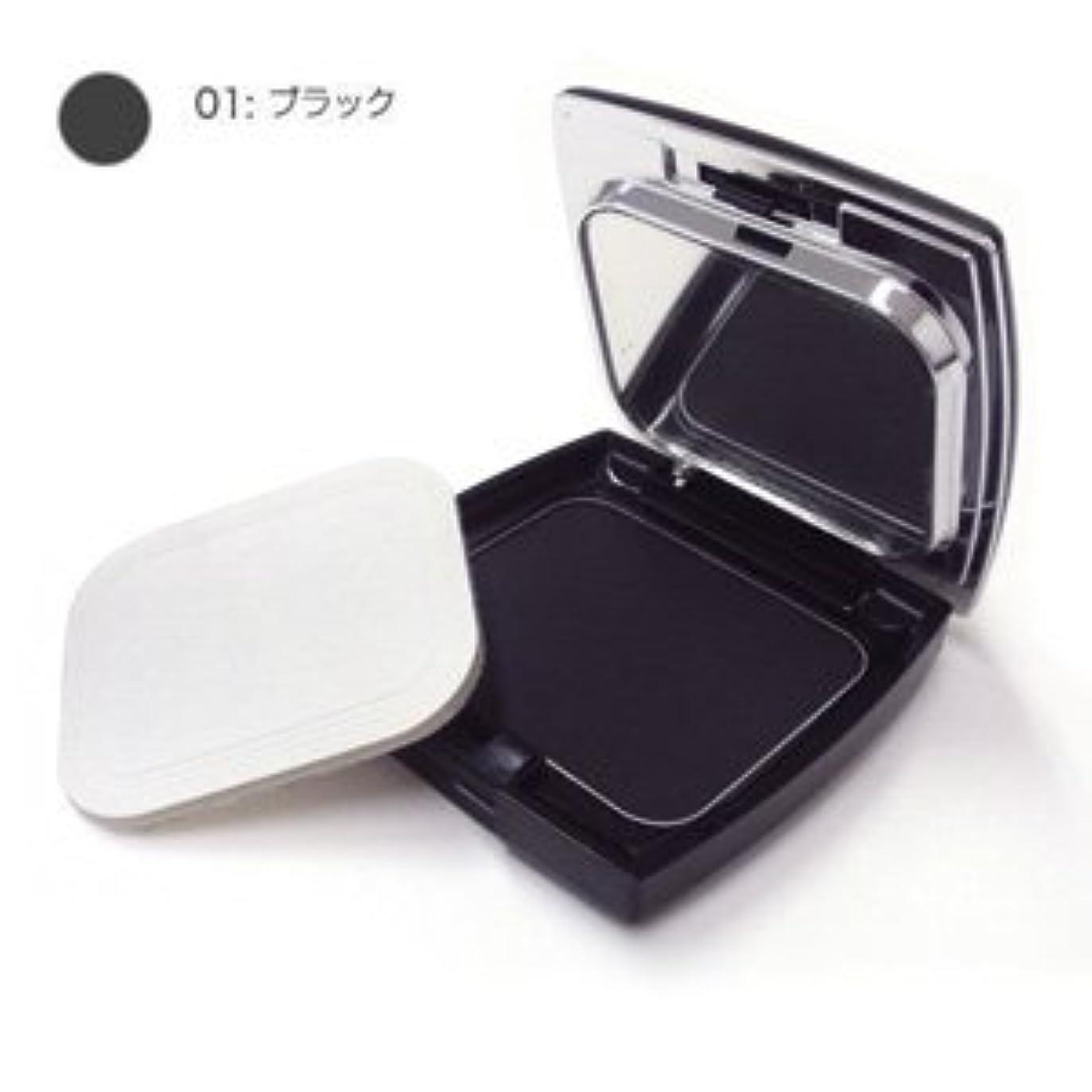 間隔仮装強化するモナリザ ヘアケアファンデーション (ブラック) 12g(パフ付)