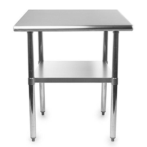 Work Table Food Prep Worktable Restaurant Supply Stainless Steel 30 x 60