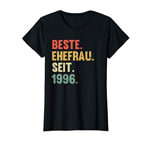 Damen Beste Ehefrau Seit 1996 Hochzeit Silberhochzeit Geschenk T-Shirt