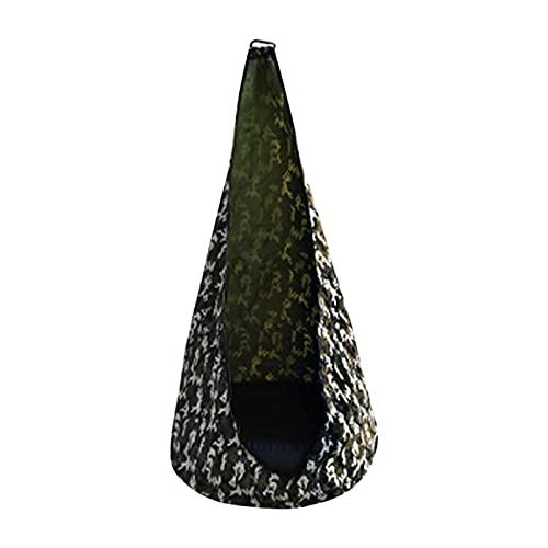 auspilybiber Casa Silla de hamaca duradera para niños con cojín para niños Swing Pod cómodo colgante asiento suave al aire libre hamaca inflable