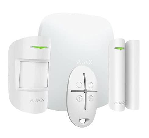 Ajax Systems, alarma para casa inalámbrica, kit antiingestión totalmente manejable de App. (blanco)