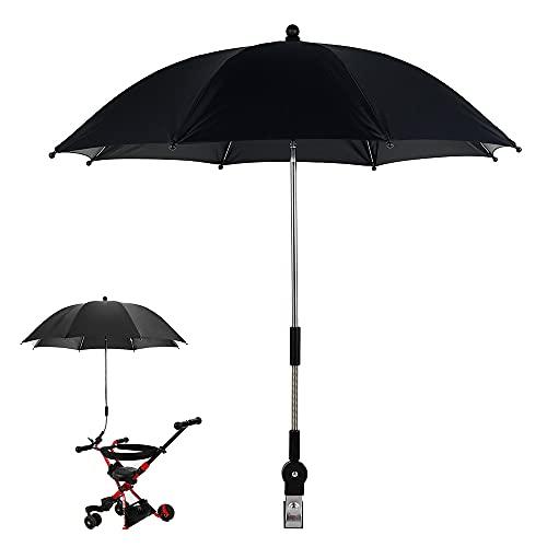 Cochecito Sombrilla Fácil de Abrir Resistente al Viento Protección UV Seguridad Cochecito de bebé Paraguas Accesorio Ajustable Giratorio Sombrilla Plegable compacta Cubiertas de Sol Accesorio