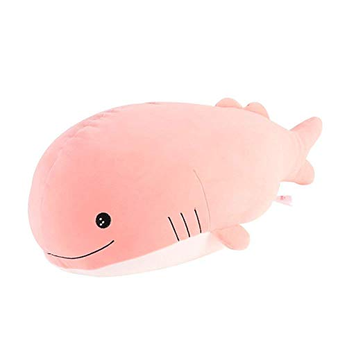Molizhi Soft Whale Shark Stuffed Animal, Big Hugging Plush Pillow Doll Fish Toy, Gifts for Girls, Friends, Kids, 13.8' (Pink)