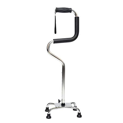 YDS Shop veiligheidsstok, aluminiumlegering, 8 hoogteniveaus, ergonomische handgreep, gehandicapte en ouderen.