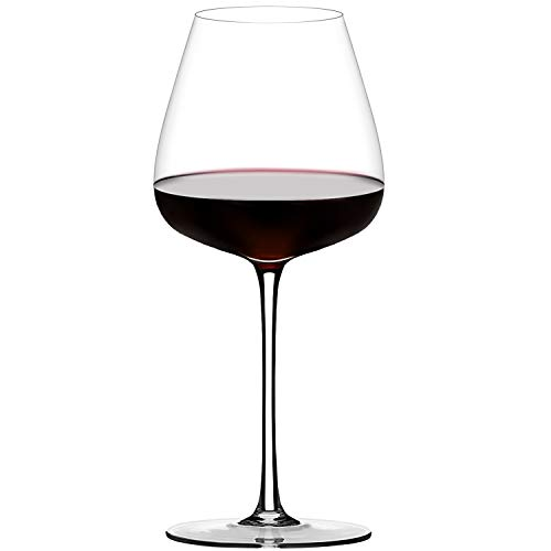 Crystal Red Wine Glasses Set of 1,Hand Blown Burgundy Wine Glasses Clear-100% Pure Lead Free Finest Crystal,21 Oz,Long Stem, Larger Bowl-Best for Wine Tasting, Birthday, Anniversary or Wedding Gifts
