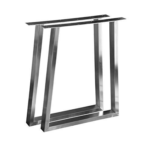 CHYRKA T- Estructura para tableros de Mesa Diseño pie de Mesa Acero Inoxidable 201 60x30 Comedor Mesa Estructura Pata (720x700 mm - 1 par)