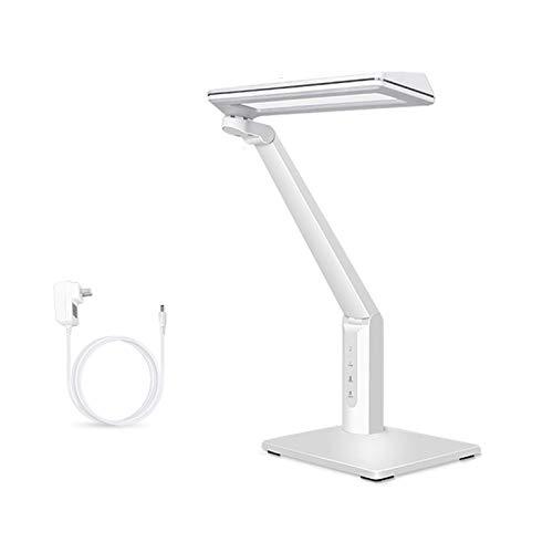 Lámpara de Escritorio Lámpara de escritorio con 3 modos de color y 6 brillo Dimmer, Control Touch LED Lámpara de escritorio, sin parpadeo Lámpara de escritorio de lectura con puerto de carga USB Flexo