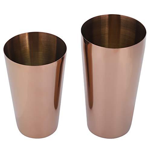 Demeras Coctelera de cóctel para Bartender, fácil de Usar y ecológica(Oro Rosa)