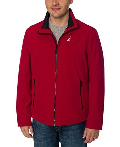 诺蒂卡男子轻量级伸缩式高尔夫夹克衫,深红,XXL