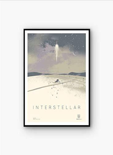 tgbhujk Interstellare Filmplakat Wandkunst Wanddekor leinwand Kunst Poster Gemälde für Wohnzimmer 40 * 60 cm Ohne Rahmen