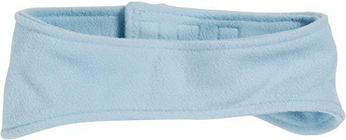 Playshoes Kinder Stirnband aus Fleece einfarbig wärmendes Accessoire mit Klett-Verschluss, Blau, one size