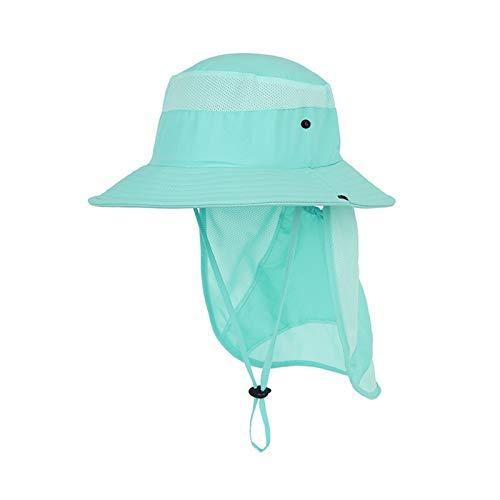 Baby Sun Hat Summer Baby Cap Enfants Haute Ajustable Chapeau Anti UV Protection Voyage Plage Caps Caps Boy Girl Cap Chapeaux de bébé (Couleur : Aqua Blue, Taille : 52 56cm)