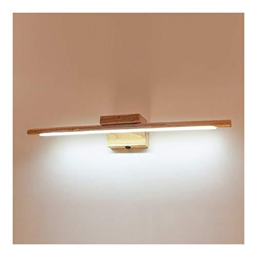 WYZ. Spiegel-voorlamp, make-up, vanity-lamp, badkamerkastlamp, Japans massief hout, eenvoudige moderne badkamer, spiegelkast, wandlamp, energieklasse A +]