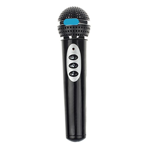 Girls microfono MIC karaoke Singing Kid Funny Gift Music Toy per bambini nero Rycnet