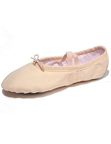 Lily's Locker - Ballettschuhe für Mädchen Kinder und Erwachsene Geteilte Ledersohle Balletschläppchen Tanzschuhe Ballettunterricht Geeignet (Hellrosa, 28EU)