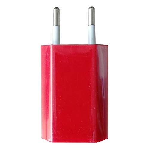 Bellaluee Adaptador de Cargador de Cargador de Pared USB 5V 1A Puerto USB único Cubo de Enchufe de Cargador rápido para iPhone para teléfono Android