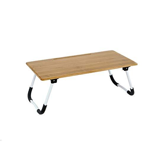 Juego de Escritorio y Silla de Estudio para Niños Estudio de los niños Escritorio antipinzamiento Tope plegable tabla de la cama de bambú multifuncional mesa de estudio escritorio del ordenador portát