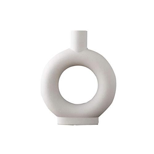 Maygone Moderne Keramikvase mit abstraktem Blumenmotiv, Dekoration für Wohnzimmer, Büro, Zuhause, Tisch.