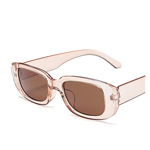 DSJTCH Rectángulo Gafas de Sol Mujeres Vintage Square Sun Glasses Shades Female UV400 (Frame Color : Multi, Lenses Color : 13)