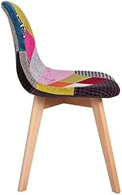 Regalos Miguel - Sillas Comedor - Silla Synk Patchwork - Patchwork Colores - Envío Desde España: Amazon.es: Hogar