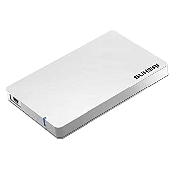 Portable External Hard Drive Suitable for Storage Data Backup Multimedia USB 2.0 External Hard Drive for PC Laptop Mac Chromebook Notebook Smart TV  200GB White