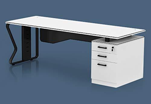 TOPREGAL ABRANTA 2. Wahl Büroschreibtisch, Schreibtisch mit Schubladencontainer, Bürotisch, Arbeitstisch