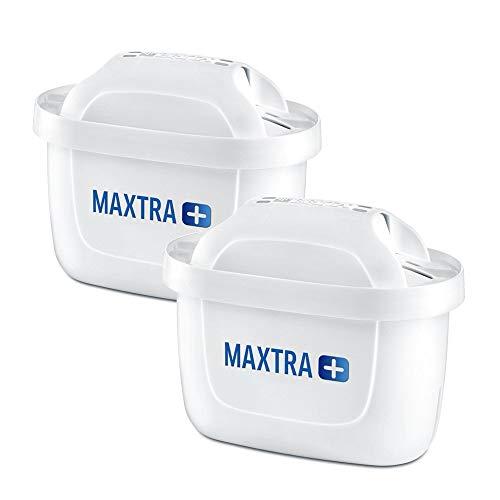 BRITA Wasserfilter-Kartusche MAXTRA+ 2er Pack – Kartuschen für alle BRITA Wasserfilter zur Reduzierung von Kalk, Chlor & geschmacksstörenden Stoffen im Leitungswasser