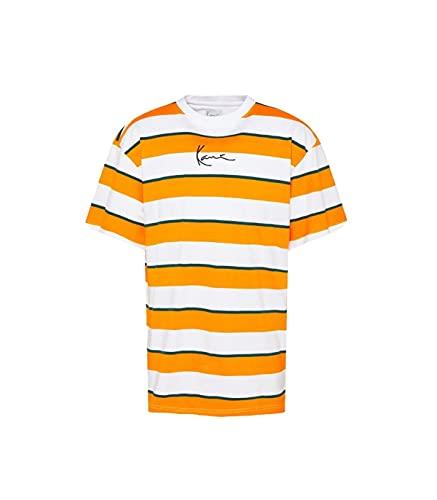 Karl Kani Small Signature Stripe T-Shirt Herren orange weiß (orange/weiß, S)