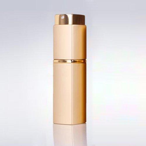 Vaporisateur de parfum portable rechargeable 20 ml + entonnoir doré