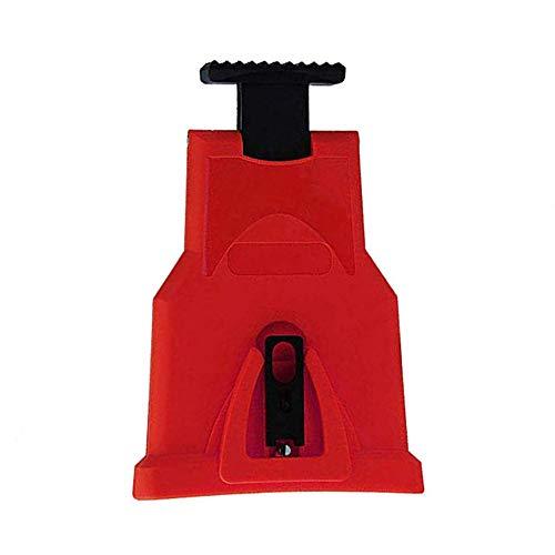 Vipithy Holzbearbeitungs-Spezialkettensägenschärfer, Schleifer-Schleifkettenwerkzeug, selbstschärfendes Schnellschleifkettenwerkzeug, rot