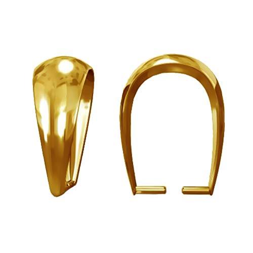 My-Bead 1 Pieza Colgante Enganche Plata de Ley 925 Chapado en Oro 24ct joyería de Calidad DIY