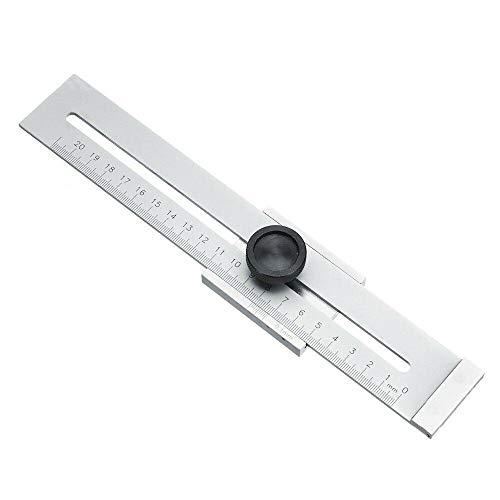 Supertool - Regla de acero inoxidable de 0 a 200 mm, regla de metal, regla de metal, calibre de marcado, regla de rascador, regla para carpintería