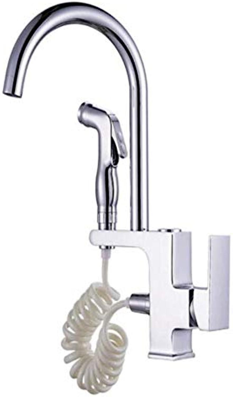 Küche Bad Wasserhahnwasserhhne Mixer Swivel Wasserhahn Waschbecken Kupfer Krper Ziehen Küchenarmatur Kaltes Und Heies Wasser