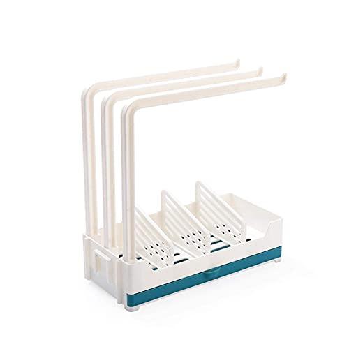 HKX Organizador de Fregadero de Cocina con Soporte para Esponja, Rejilla para escurridor de Trapos de jabón para Esponja, jabón, Cepillo, Accesorios para lavavajillas - 24,5x23,5x11 cm