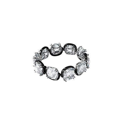Swarovski Pulsera Harmonia, Cristales de Talla Cushion, Blanco, Combinación de Acabados Metálicos