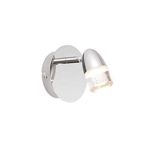 Applique Saul, nickel et acrylique, 1 ampoule