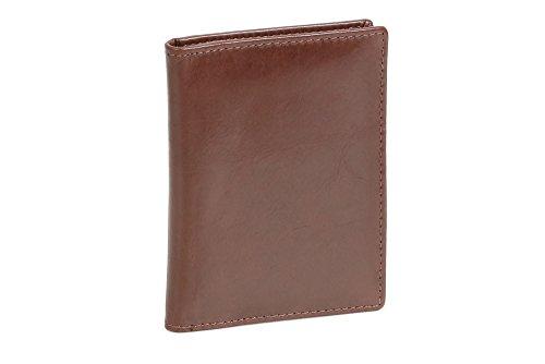 LEAS Ausweis- und Kreditkartenhülle Echt-Leder, dunkelbraun Card-Collection