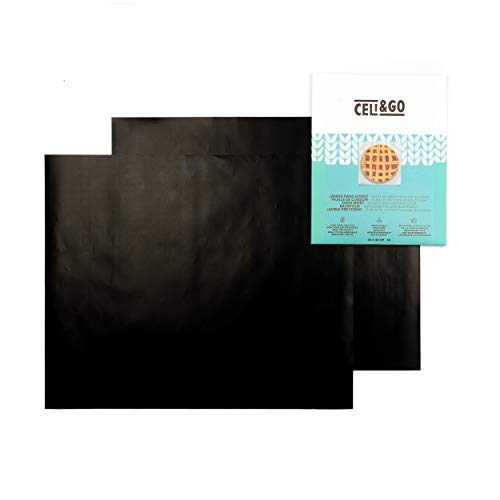 CELI&GO Foglio per Forno – Confezione da 2 Fogli per Forno Antiaderenti, Riutilizzabili, Lavabili, Senza PFOA, Evitare Contaminazione Incrociata – Dimensioni Foglio 33 x 40 cm