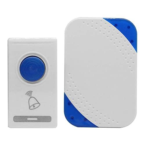 BAOZUPO Timbre inalámbrico Control Remoto Anillo de Puerta Inteligente Oficina en casa Hotel Transmisor de Seguridad Receptor