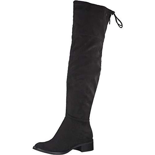 s.Oliver Damen Stiefel 25516-25, Frauen Overknee Stiefel, lederstiefel Absatz reißverschluss weibliche Lady Ladies feminin Women,Black,42 EU / 8 UK
