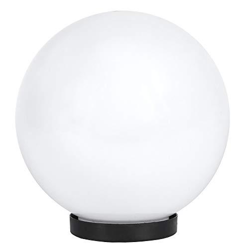 Kugelleuchte Ø 20 cm | Außenkugellampe IP65 | Gartenleuchte weiß | Dekoleuchte Außen | Terrassenbeleuchtung E27 | Außenleuchte Kugel mit Bodenplatte