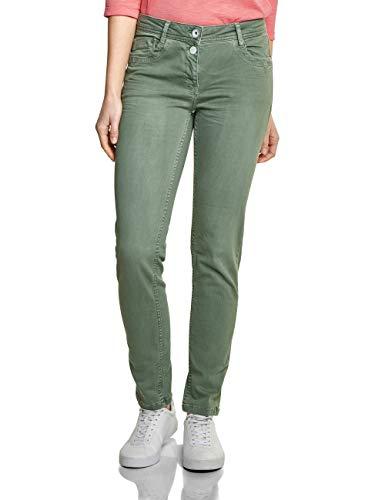 Cecil Damen 372011 Charlize Slim Jeans, Light Khaki, 36W / 28L